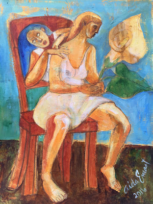 Айда Емарт. Цветок на стуле