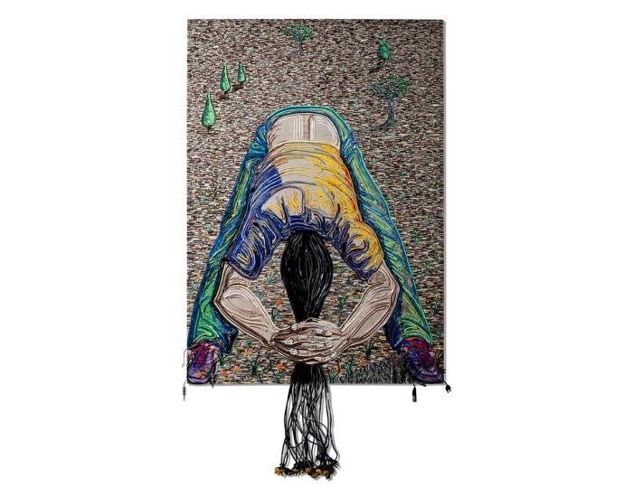 Contectado. Серия картин, *нарисованных* цветными проводами