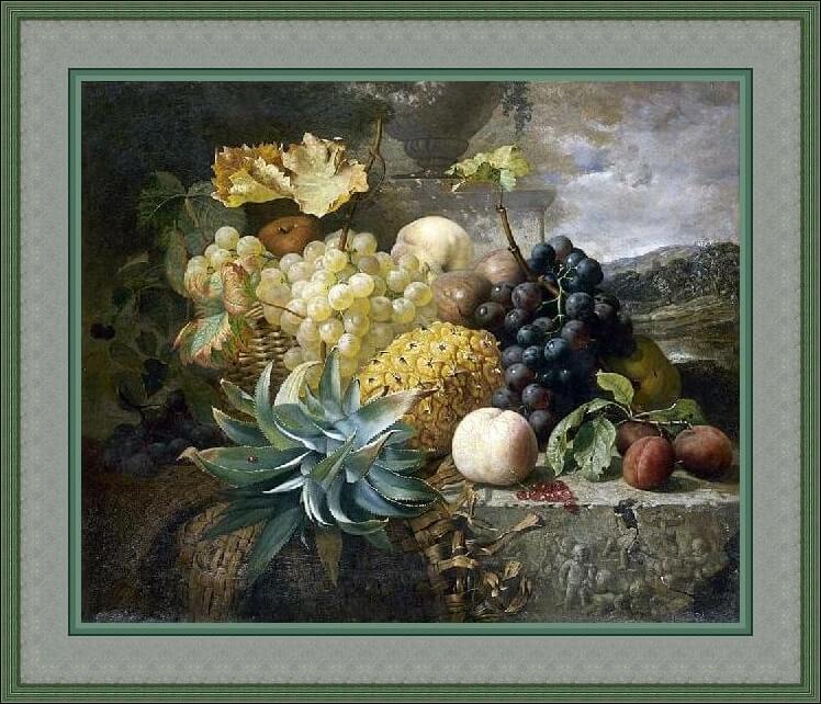 Eloise Harriet Stannard. Bodegó con fruta