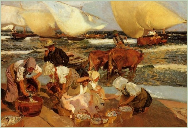Joaquín Sorolla. The Beach at Valencia