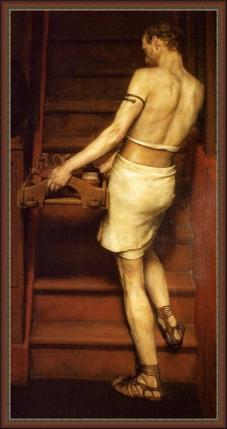 Lawrence Alma-Tadema. The Roman Potter