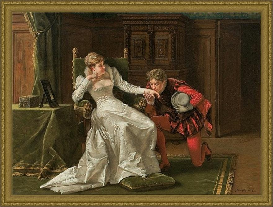 Wladislaw Bakalowicz. Scene from Henri Valois court