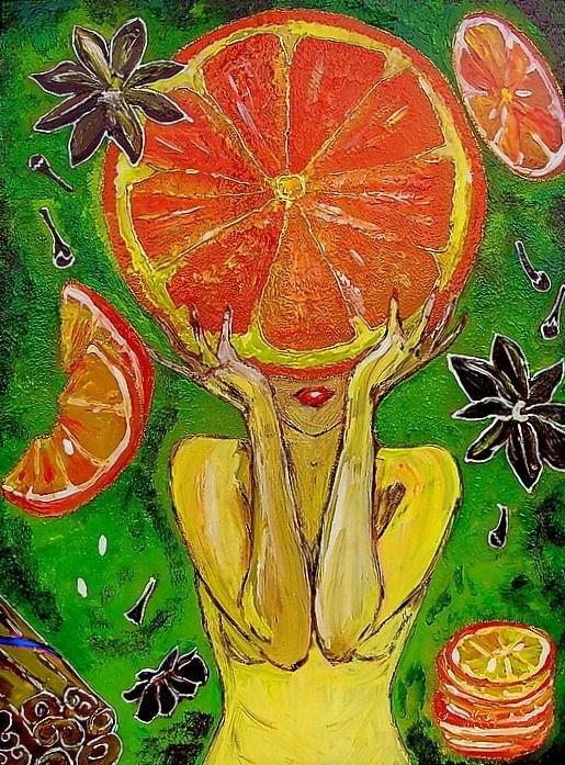 Yulia-Yulitaya. Una naranja
