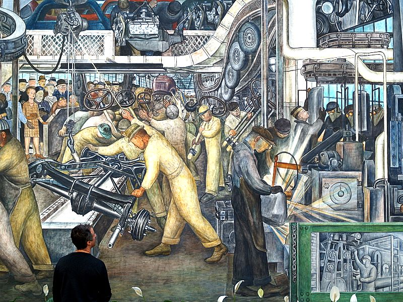 Diego Rivera. Industria Automotriz