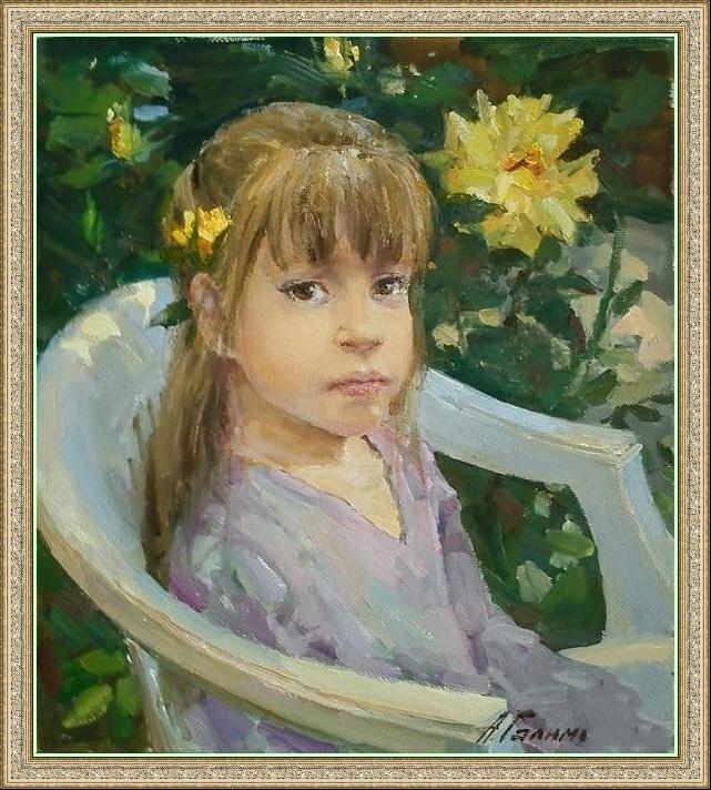 Азат Галимов. Девочка в саду