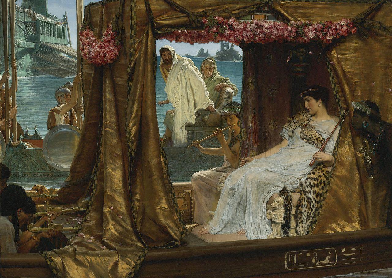 Лоуренс Альма-Тадема (Lawrence Alma-Tadema). Встреча Антония с Клеопатрой в 41 году до н. э.