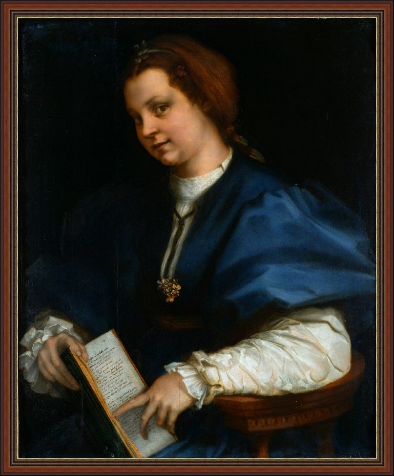 Andrea del Sarto. Lady with a book